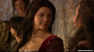 """Natalie Dormer nel ruolo di Anna Bolena per la serie tv """"The Tudors"""""""