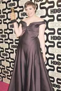 HBO's 2013 Golden Globes Party at the Beverly Hilton Hotel - Arrivals Featuring: Lena Dunham Where: Los Angeles, CA, United States When: 13 Jan 2013 Credit: Apega/WENN.com