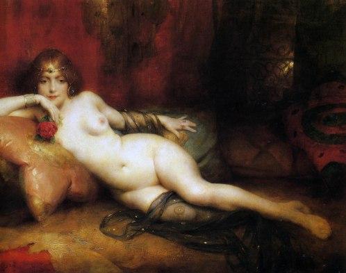 Adrien Henri Tanoux, Salammbô, 1921, olio su tela.